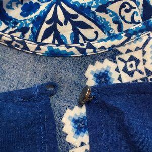 Blue Rain Tops - Blue Rain Blue and white Tank Top Size S
